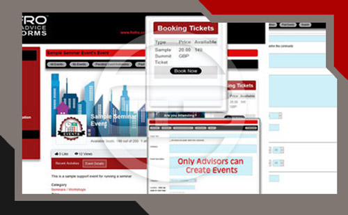 online advice platform events
